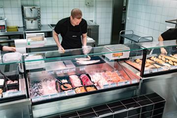 Frischer Fisch & Meeresfrüchte