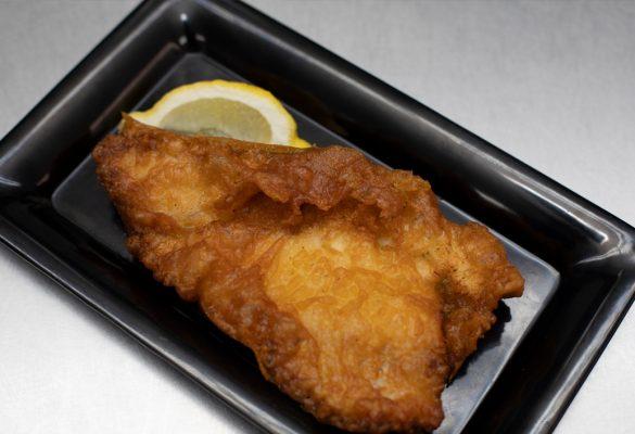 Backfisch als Mittagessen Wesseling